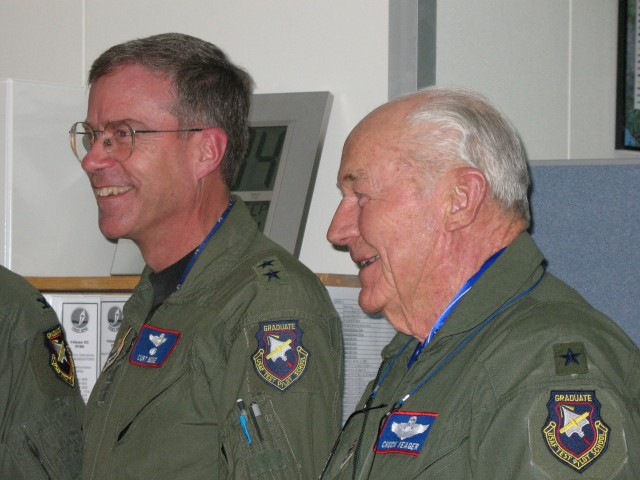 Curt Bedke and Chuck Yeager