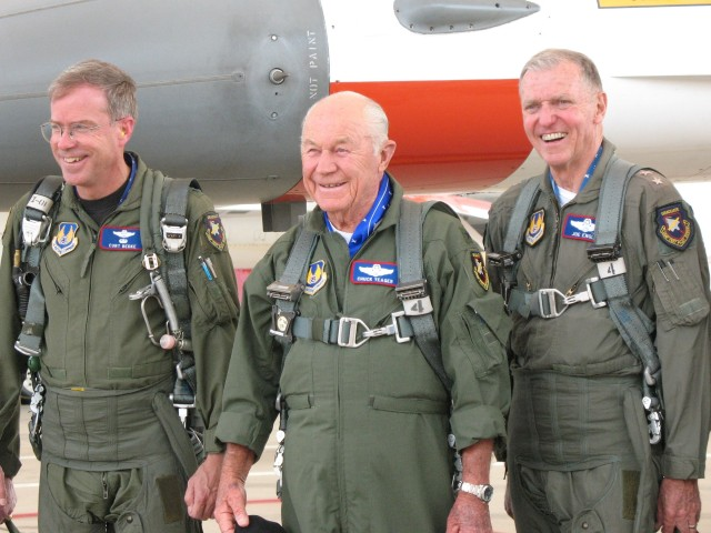 Curt Bedke, Chuck Yeager and Joe Engle