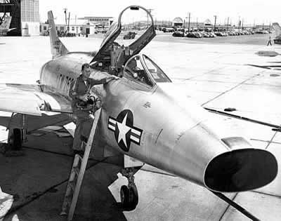 Chuck Yeager and F-100