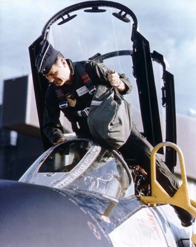 Chuck Yeager in the Cockpit of F-4C
