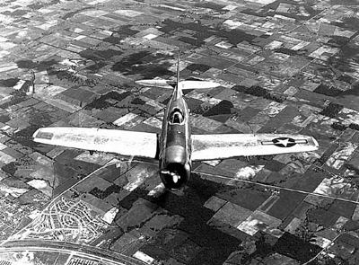 P-47D in flight