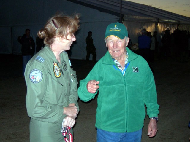Chuck Yeager With Australian Air Force Pilot