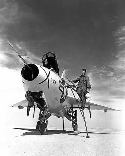 Chuck Yeager and XF-92A