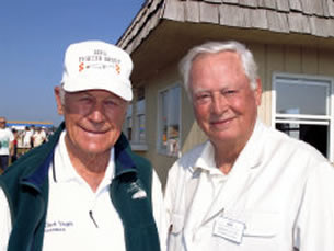 Chuck Yeager and Barron Hilton