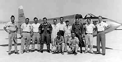 Chuck Yeager and X-1A Team