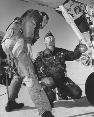 Chuck Yeager and F-15