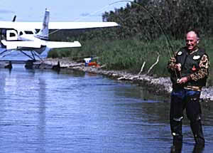 Chuck Yeager Fishing