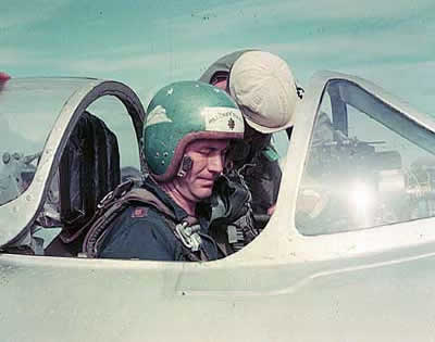 Chuck Yeager in the Cockpit of MiG-15