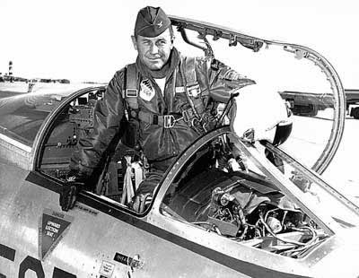 Chuck Yeager in the Cockpit of NF-104 Starfighter