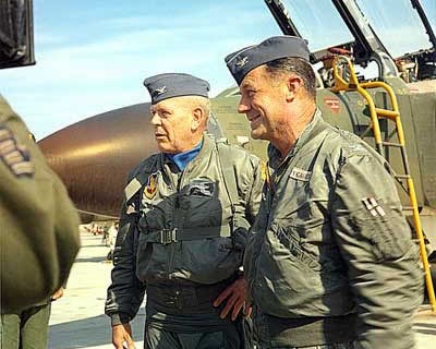 Chuck Yeager and Jack Hayes