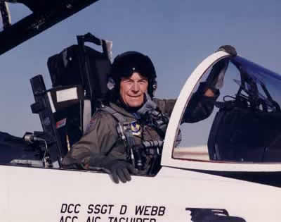 Chuck Yeager in the Cockpit of F-15