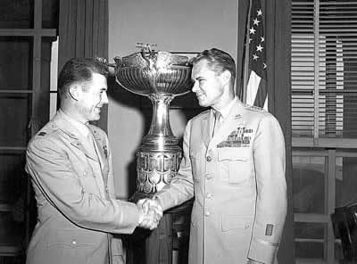 Chuck Yeager Receives McKay Trophy