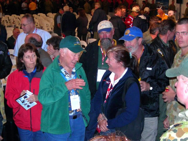 Chuck Yeager Mingling