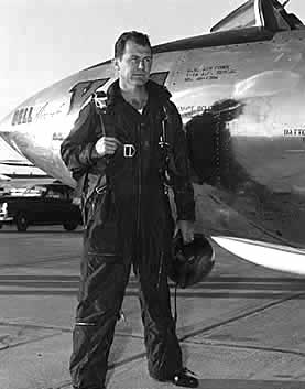 Chuck Yeager Next To X-1A
