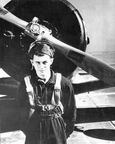 Chuck Yeager with BT-13A