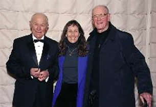 Chuck and Victoria Yeager with Russ Schleeh