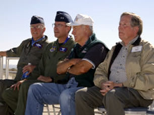 Joe Engle, Curtis Bedke and Chuck Yeager