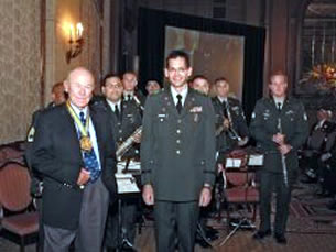 Chuck Yeager with the Army Band