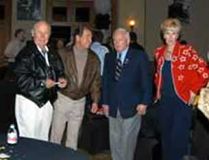 General Yeager, Doug Van Howd, Butch White, and guest