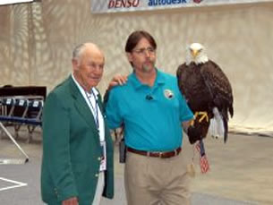 Chuck Yeager and a Bald Eagle