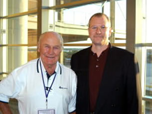 Yeager with Wayne Kinsey