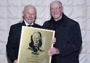 Chuck Yeager presenting the Award