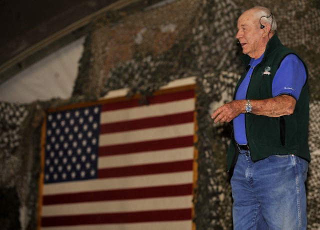 Chuck Yeager in Bagram, Afghanistan
